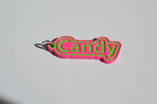First Additional product image for - Candy Single & Dual Color 3D Printable Keychain-Badge-Stamp