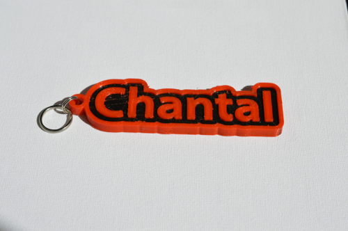 First Additional product image for - Chantal Single & Dual Color 3D Printable Keychain-Badge-Stamp