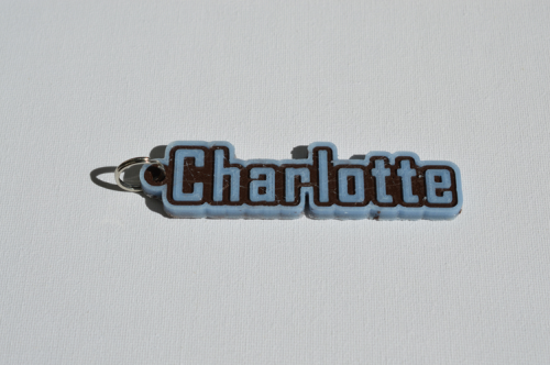 First Additional product image for - Charlotte Single & Dual Color 3D Printable Keychain-Badge-Stamp