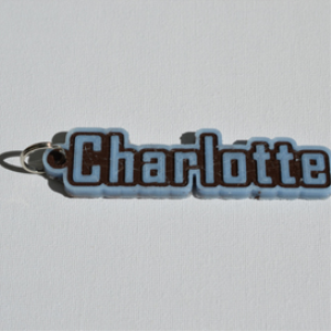 charlotte single & dual color 3d printable keychain-badge-stamp