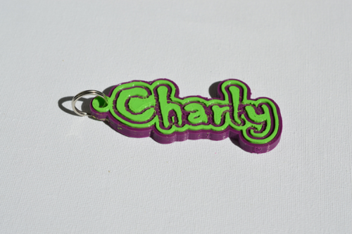First Additional product image for - Charly Single & Dual Color 3D Printable Keychain-Badge-Stamp