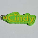 Cindy Single & Dual Color 3D Printable Keychain-Badge-Stamp | Crafting | Jewelry