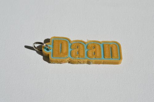 First Additional product image for - Daan Single & Dual Color 3D Printable Keychain-Badge-Stamp