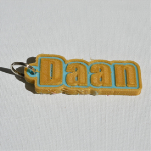 daan single & dual color 3d printable keychain-badge-stamp