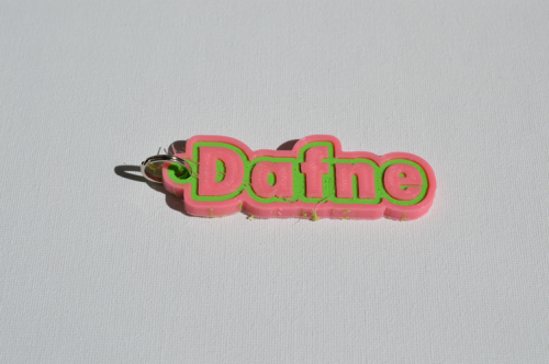First Additional product image for - Dafne Single & Dual Color 3D Printable Keychain-Badge-Stamp