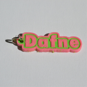 Dafne Single & Dual Color 3D Printable Keychain-Badge-Stamp | Other Files | Patterns and Templates