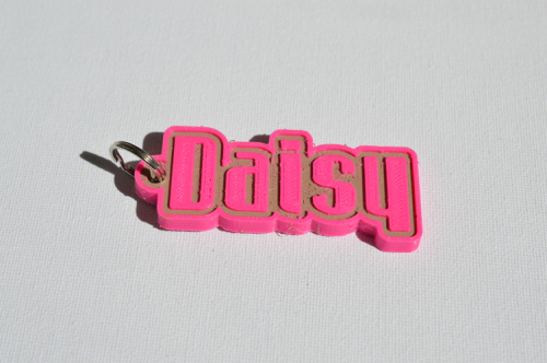 First Additional product image for - Daisy Single & Dual Color 3D Printable Keychain-Badge-Stamp