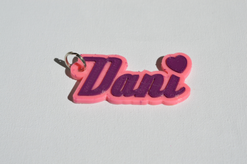 First Additional product image for - Dani Single & Dual Color 3D Printable Keychain-Badge-Stamp