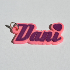 Dani Single & Dual Color 3D Printable Keychain-Badge-Stamp | Other Files | Patterns and Templates