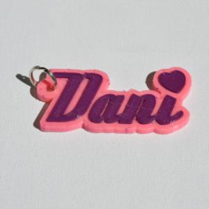 dani single & dual color 3d printable keychain-badge-stamp
