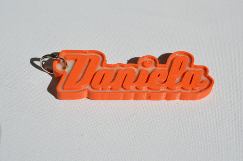 First Additional product image for - Daniela Single & Dual Color 3D Printable Keychain-Badge-Stamp