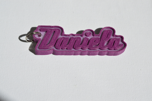 Second Additional product image for - Daniela Single & Dual Color 3D Printable Keychain-Badge-Stamp