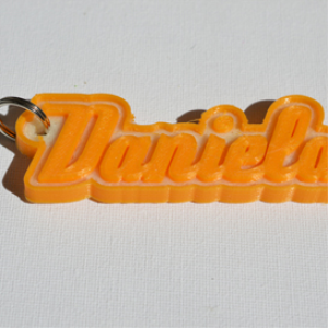 Daniela Single & Dual Color 3D Printable Keychain-Badge-Stamp | Other Files | Patterns and Templates