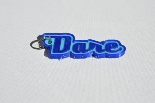 First Additional product image for - Dare Single & Dual Color 3D Printable Keychain-Badge-Stamp