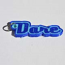 Dare Single & Dual Color 3D Printable Keychain-Badge-Stamp | Other Files | Patterns and Templates