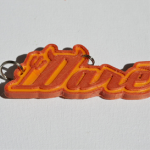 Dare Devil Single & Dual Color 3D Printable Keychain-Badge-Stamp | Other Files | Fonts