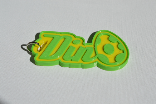 First Additional product image for - Dino Single & Dual Color 3D Printable Keychain-Badge-Stamp