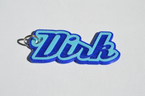 First Additional product image for - Dirk Single & Dual Color 3D Printable Keychain-Badge-Stamp