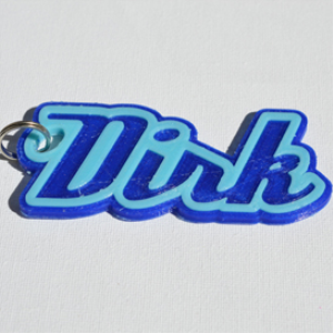 Dirk Single & Dual Color 3D Printable Keychain-Badge-Stamp | Other Files | Patterns and Templates