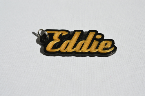 First Additional product image for - Eddie Single & Dual Color 3D Printable Keychain-Badge-Stamp