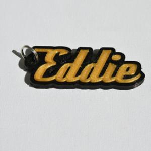 eddie single & dual color 3d printable keychain-badge-stamp