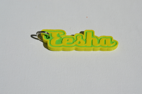 First Additional product image for - Eesha Single & Dual Color 3D Printable Keychain-Badge-Stamp