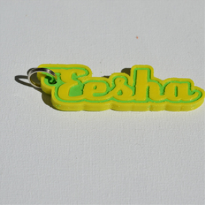 Eesha Single & Dual Color 3D Printable Keychain-Badge-Stamp | Other Files | Everything Else