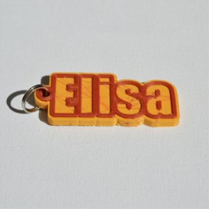 Elisa Single & Dual Color 3D Printable Keychain-Badge-Stamp | Other Files | Graphics