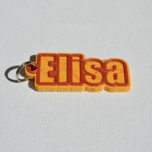 elisa single & dual color 3d printable keychain-badge-stamp