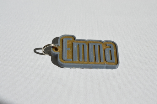 First Additional product image for - Emma Single & Dual Color 3D Printable Keychain-Badge-Stamp