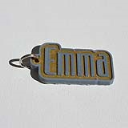 Emma Single & Dual Color 3D Printable Keychain-Badge-Stamp | Other Files | Patterns and Templates