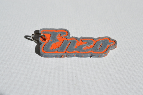 First Additional product image for - Enzo Single & Dual Color 3D Printable Keychain-Badge-Stamp