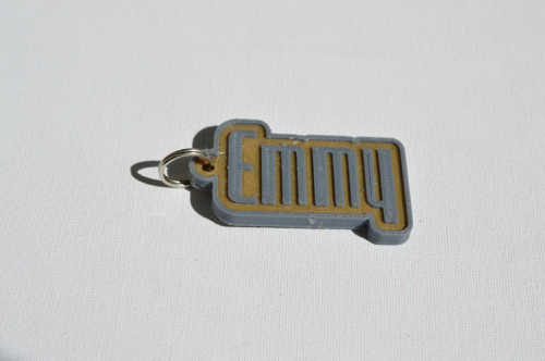 First Additional product image for - Emmy Single & Dual Color 3D Printable Keychain-Badge-Stamp