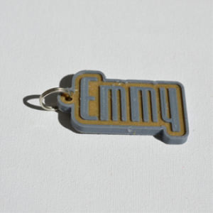 emmy single & dual color 3d printable keychain-badge-stamp