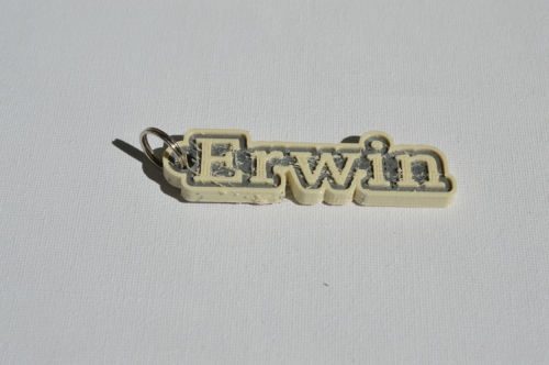First Additional product image for - Erwin Single & Dual Color 3D Printable Keychain-Badge-Stamp