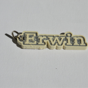 Erwin Single & Dual Color 3D Printable Keychain-Badge-Stamp | Other Files | Patterns and Templates
