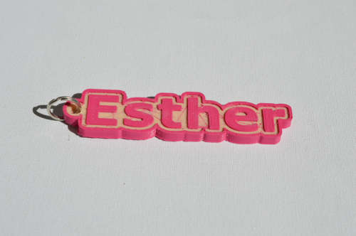 First Additional product image for - Esther Single & Dual Color 3D Printable Keychain-Badge-Stamp