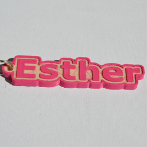 Esther Single & Dual Color 3D Printable Keychain-Badge-Stamp | Other Files | Patterns and Templates