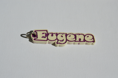 First Additional product image for - Eugene Single & Dual Color 3D Printable Keychain-Badge-Stamp