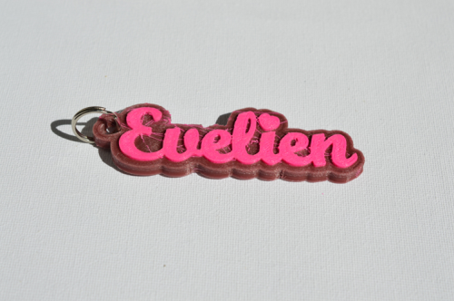 First Additional product image for - Evelien Single & Dual Color 3D Printable Keychain-Badge-Stamp