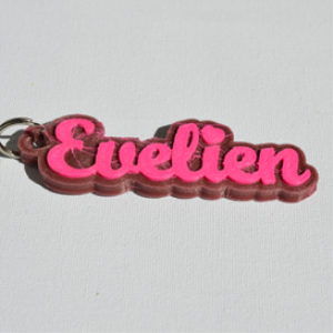 evelien single & dual color 3d printable keychain-badge-stamp