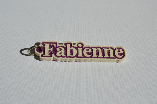 First Additional product image for - Fabienne Single & Dual Color 3D Printable Keychain-Badge-Stamp