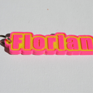 florian single & dual color 3d printable keychain-badge-stamp