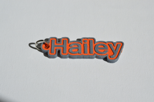 First Additional product image for - Hailey Single & Dual Color 3D Printable Keychain-Badge-Stamp