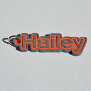 Hailey Single & Dual Color 3D Printable Keychain-Badge-Stamp | Other Files | Patterns and Templates