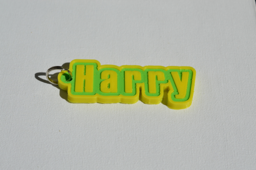 First Additional product image for - Harry Single & Dual Color 3D Printable Keychain-Badge-Stamp