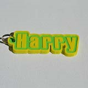 Harry Single & Dual Color 3D Printable Keychain-Badge-Stamp | Other Files | Patterns and Templates