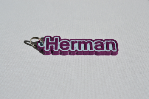 First Additional product image for - Herman Single & Dual Color 3D Printable Keychain-Badge-Stamp