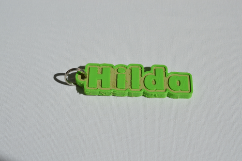 First Additional product image for - Hilda Single & Dual Color 3D Printable Keychain-Badge-Stamp