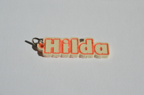 Second Additional product image for - Hilda Single & Dual Color 3D Printable Keychain-Badge-Stamp